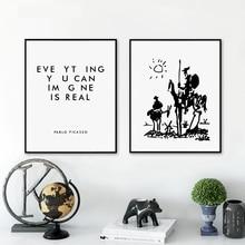 Everyhing Kunt U Beeld Is Echte Pablo Picasso Art Schilderijen Canvas Print, don Quichot Poster Schilderij Muur Foto Home Decor