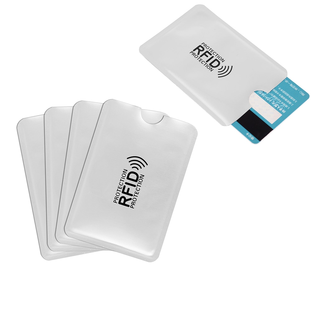 بطاقة الدفع بدون تلامس (NFC) RFID ، غلاف مضاد للعضو الذكري ، حماية البطاقة المصرفية ، مضاد للمسح ومضاد للمغنطيسي ، مصنوع من الألومنيوم ، 200 قطعة