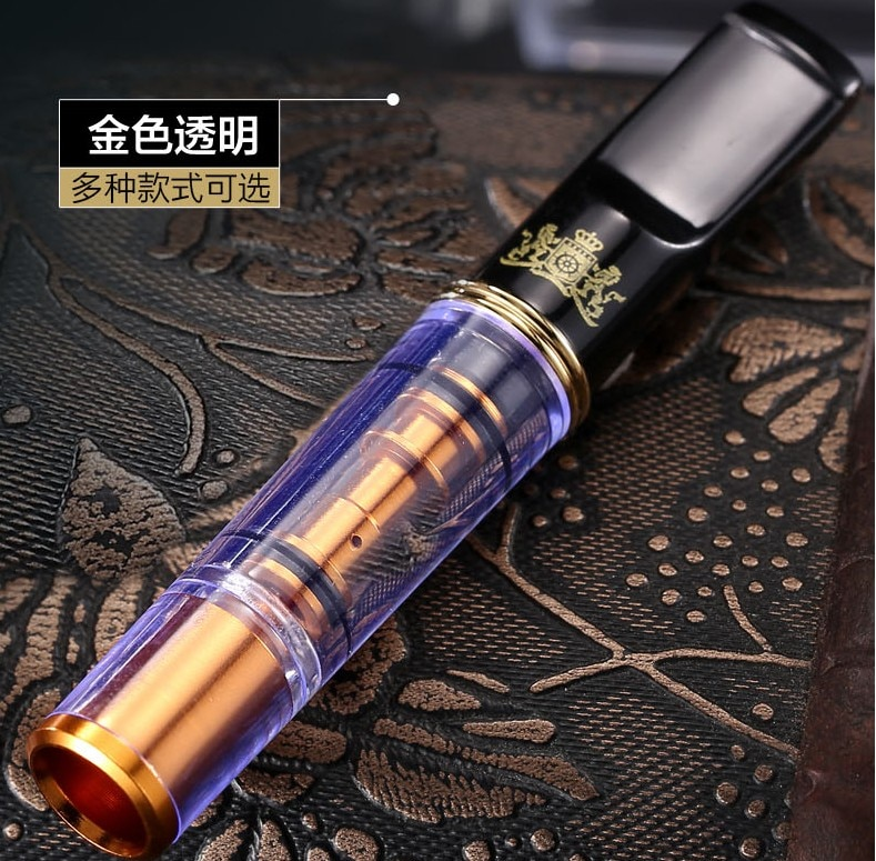 New 1pcs Recycle Cleanable Cigarette Filter Metal Cigarette Holder Mouthpiece Cleaning holder Men's Gadget G608 enlarge