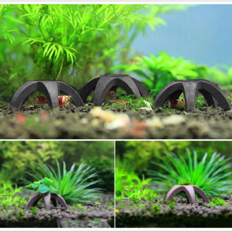 1pcs/3pcs/5pcs DIY Moss Plant Carrier Decor Ceramic Mini Aquarium House Shelter Cave Decoration Fish Tank Landscape Ornament