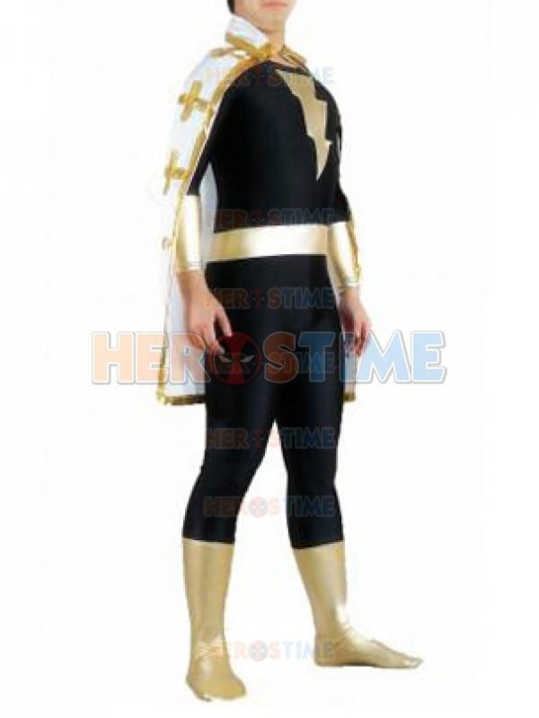 Black Adam Superhero Costume spandex black and gold/white The Flash costume Halloween Zentai Suit