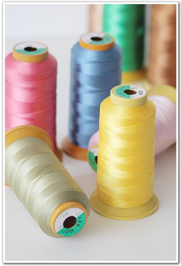 3 uds 210D/6 hilo de coser de nailon de alta resistencia 600 metros/carrete para tapicería de exteriores