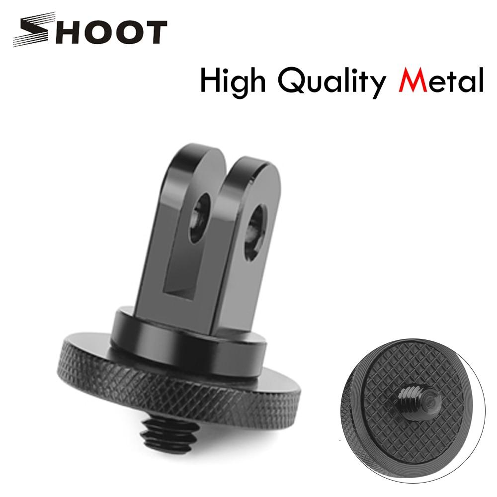 Съемка металла 1/4 мини штатив адаптер крепление для GoPro Hero 5 6 4 Session SJCAM SJ4000 Xiao Yi 4K Eken H9 аксессуары для экшн-камеры