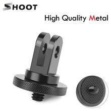 SHOOT Metal 1/4 Mini Tripod Adapter Mount for GoPro Hero 5 6 4 Session SJCAM SJ4000 Xiao Yi 4K Eken H9 Action Camera Accessory