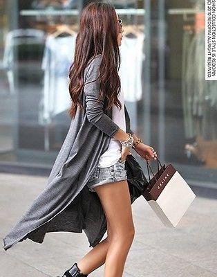Nuevo cárdigan tejido de manga larga para mujer, suéter suelto, prendas de vestir, Chaqueta larga, abrigo