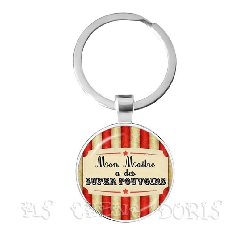 Hot Fashion Teacher Gift Gift Super Mistress Keychain Men's Charm Thanks Mistress Jewlery Keychain Jewelry