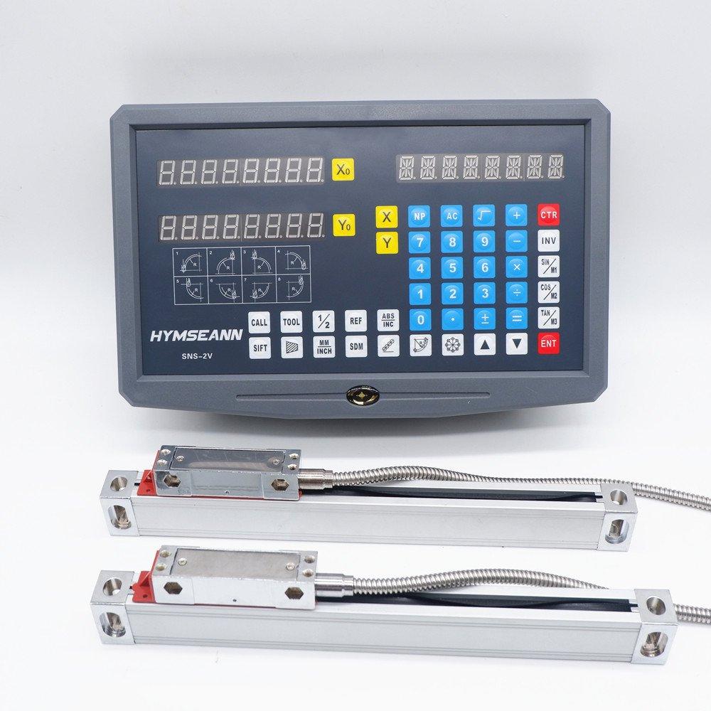 جديد SNS-2V 2 محور درو قراءات رقمية AC110V/220V عرض و 2 قطعة 0-1000 مللي متر مقياس خطي التشفير لطحن مخرطة آلة