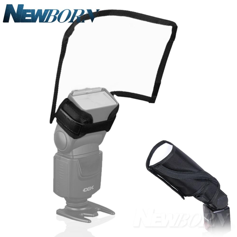 Plegable Flash Snoot softbox de speedlite difusor Speedlight Reflector doblador pequeño