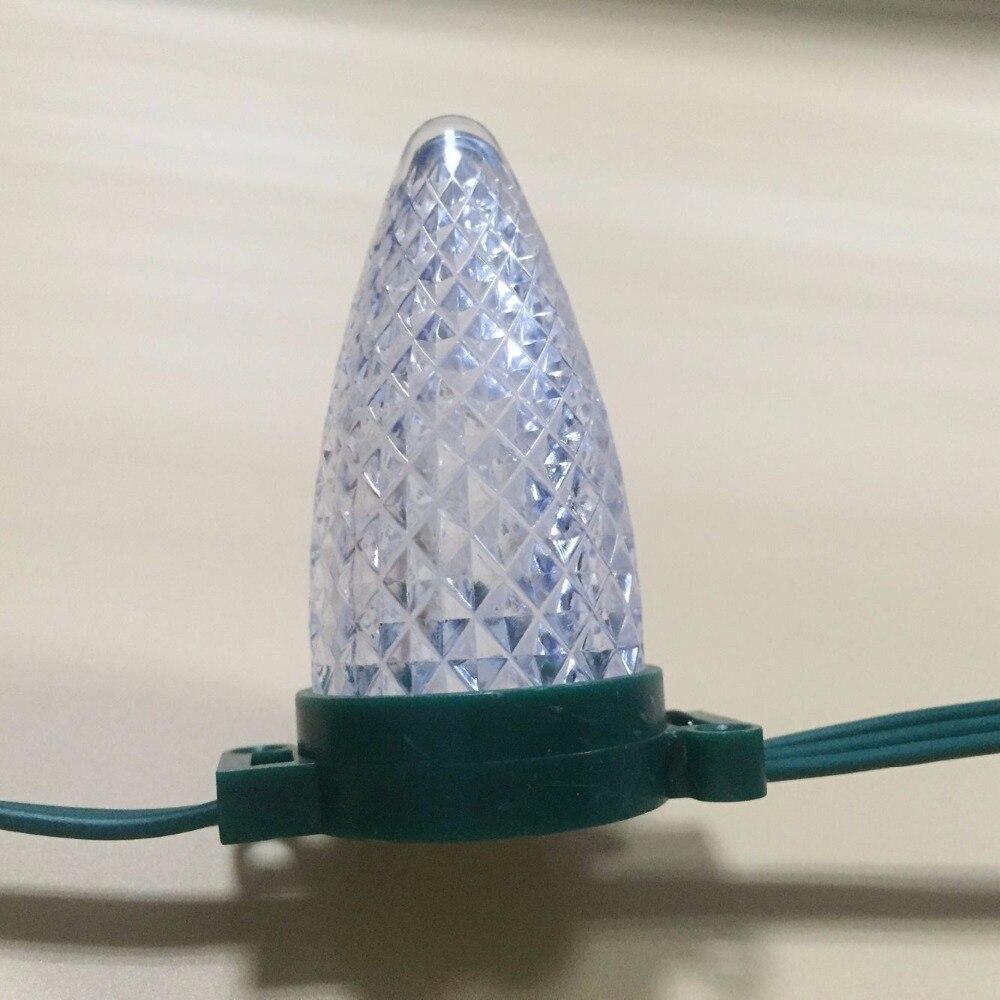 سلسلة عيد الميلاد الذكية RGB القابلة للعنونة ، DC12V WS2811 LED ، 6 بوصات (15 سنتيمتر) ، مباعدة سلكية ، 3 مصابيح LED ، 0.72 واط ، سلك أخضر بالكامل ، IP68