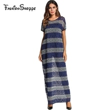 Lace stripe color block crochet hollow out design shift dress for women summer 2018 straight T shirt dresses muslim dress abaya