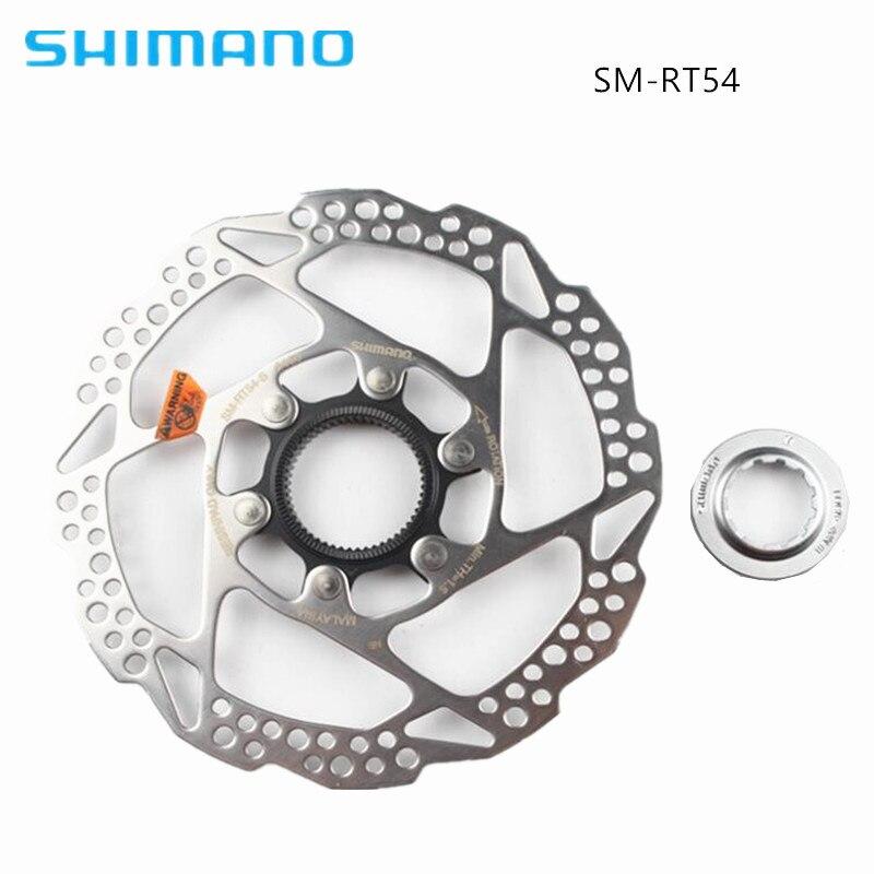 Дисковый тормоз SHIMANO, 1 шт., ротор SM RT54, центральный замок, подходит для горных велосипедов, диск RT54 XT SLX DEORE 160 мм 180 мм, горный велосипед