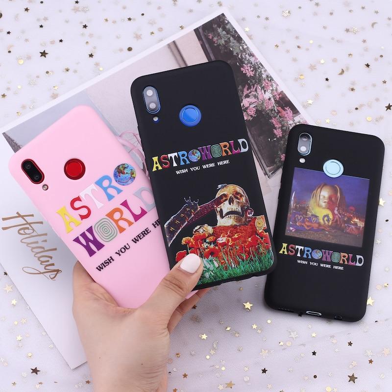 Für Samsung S8 S9 S10 S10e Plus Hinweis 8 9 10 A7 A8 Travis Scott Astroworld Sicko Modus Candy Silikon telefon Fall Capa Fundas Coque
