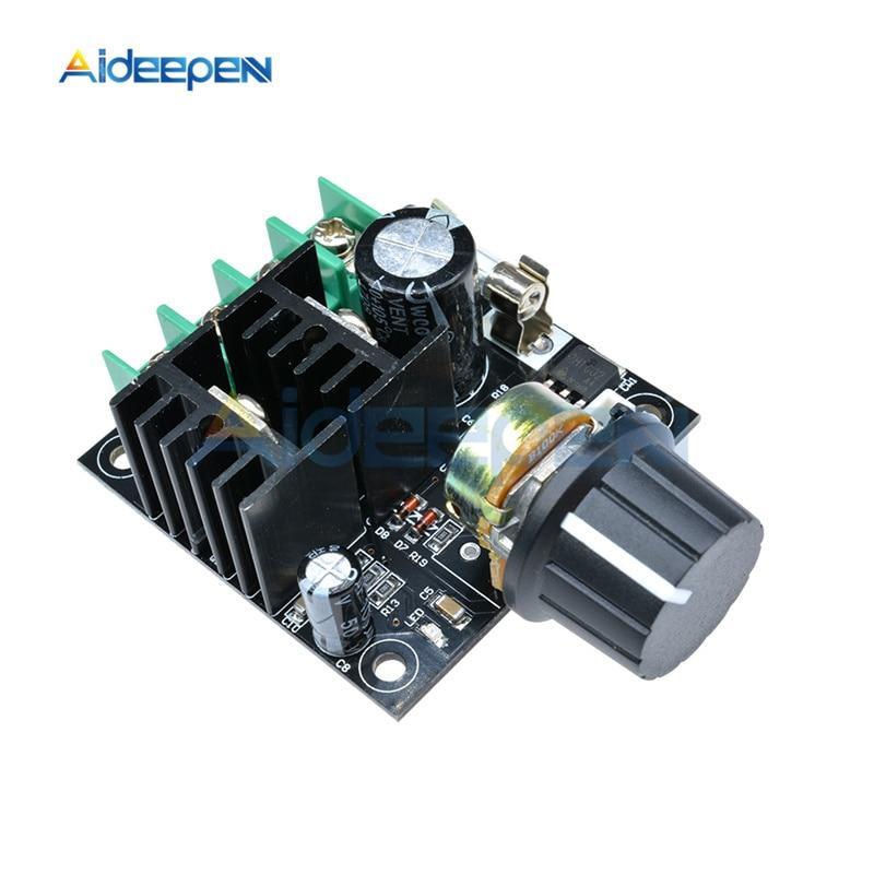 DC 12V-40V 10A 400W Auto PWM DC Motor Speed Controller Module Volt Regulator Dimmer 3KHz Frequency With Knob Switch 24V 32V