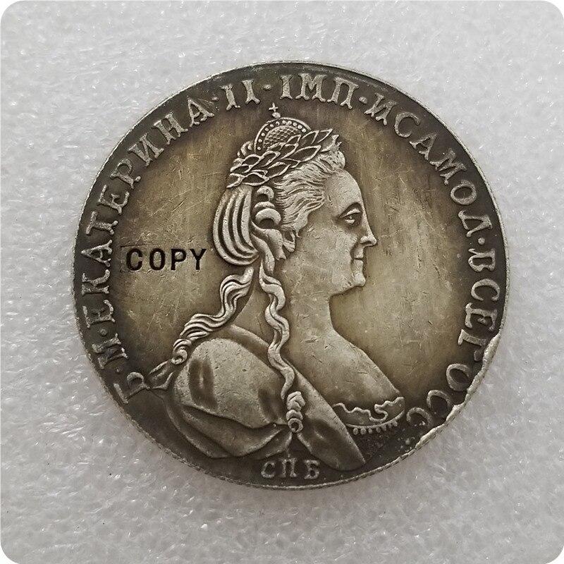 1 rublo 1780 copia rusa monedas conmemorativas-monedas réplica Medallas de monedas coleccionables