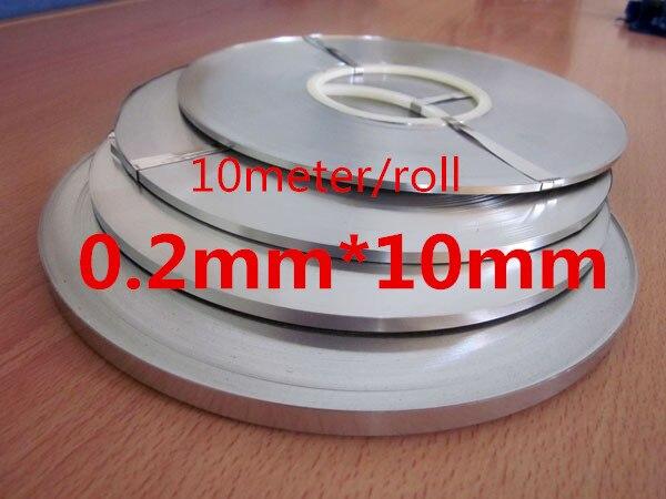 10 meter/ Roll 0.2*10mm Pure Nickel Plate Strap Strip Sheets 99.96% for battery spot welding machine Welder Equipment