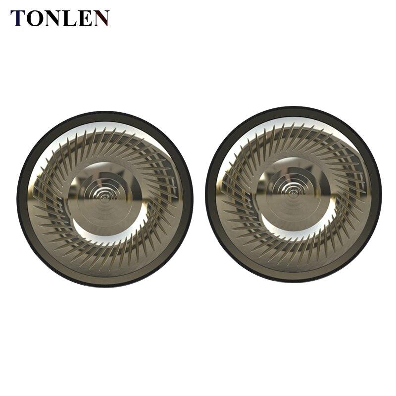 TONLEN 2 uds 50mm HIFI auriculares altavoz Subwoofer auriculares 16 ohm DIY Audio reemplazar auriculares auricular titanio película altavoces