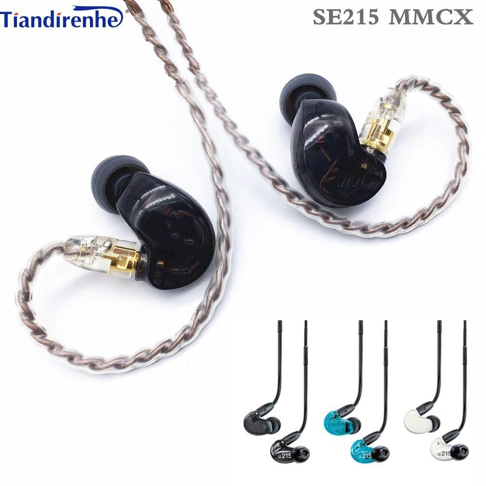 ¡Envío rápido! Auriculares estéreo SE215 Hi-fi con cancelación de ruido de 3,5 MM mmcx SE 215 In ear con Cable separado, auriculares Subwoofer