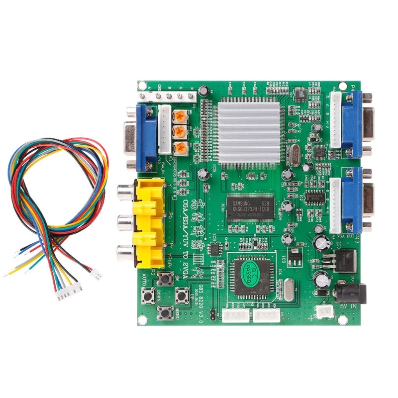 OOTDTY الممرات لعبة RGB/CGA/EGA/YUV إلى VGA المزدوج HD الفيديو تحويل محول مجلس GBS-8220