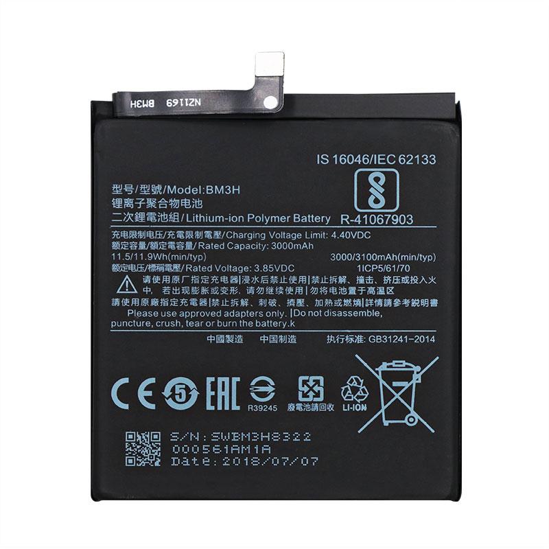 New 3.85V 3100mAh Replacement Battery For Xiaomi BM3H Mobile Phone Original Batteries enlarge