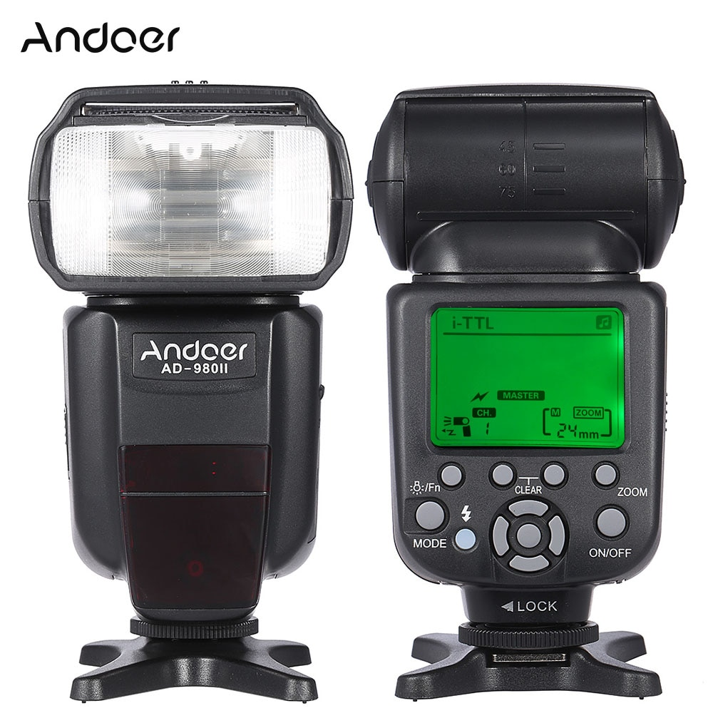 Andoer AD-980II i-TTL ماستر الرقيق فلاش Speedlite HSS 1/8000s GN58 لنيكون D7200 D7100 D7000 D5200 D5100 D5000 DSLR كاميرات