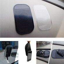 1pc voiture tapis anti-dérapant avec téléphone portable ultra-adhésif tapis antidérapant pu tapis antidérapant température