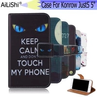 ailishi for konrow just5 5 case exclusive painted phone just5 5leather case flip credit card holder wallet 6 colors