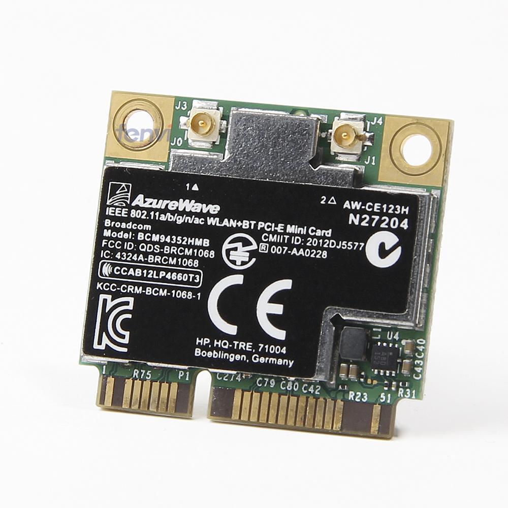 BroadCom BCM4352 BCM94352HMB mitad Mini PCIe PCI-express inalámbrico WIFI WLAN BT Bluetooth tarjeta 802.11AC 867 Mhz para 724935 -001