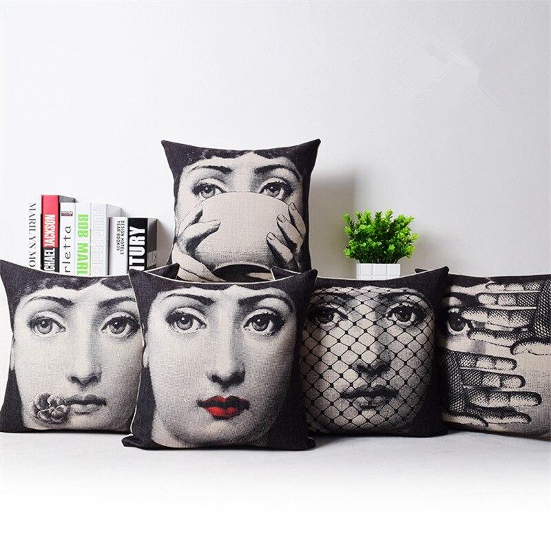 Renacentista famoso retrato cubierta de cojín estampada sofá decorativo cojín silla de coche funda de cojín de decoración para hogar almohadas Cojines