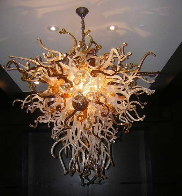 Роскошная светодиодная хрустальная люстра, художественная ручная выдувная стеклянная люстра, винтажное фойе, лофт, купол