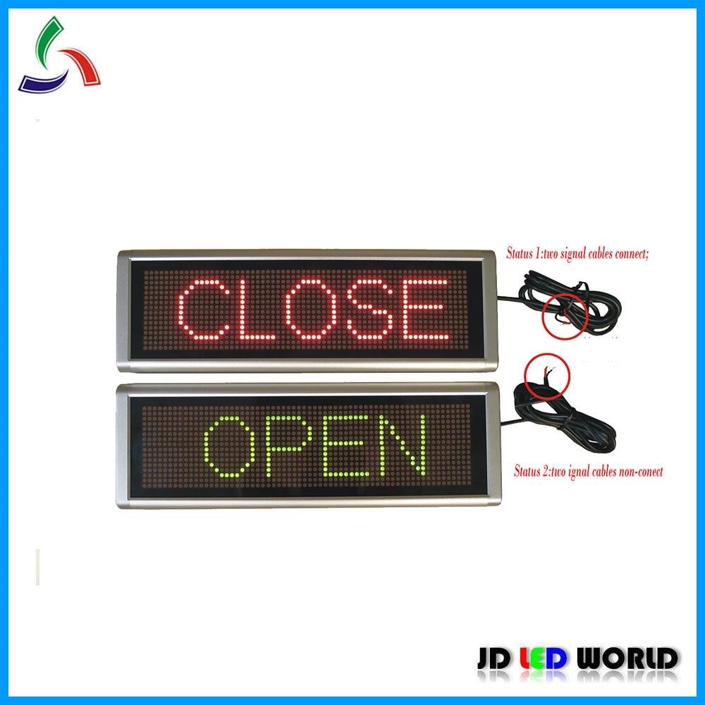 """""""Fechar"""" e """"abrir"""" alerta rg dupla cor led sinal em movimento"""