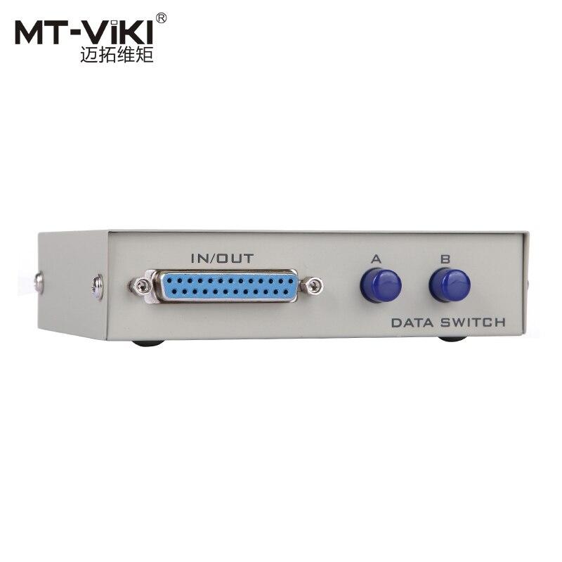 MT-VIKI 2 DB25 Pararell impresora LPT compartir datos interruptor Selector de botón Manual de prensa MT-25-2