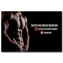 Affiche dart citation artistique en soie   Affiche de musculation, 13x20 24x36 pouces, image pour exercice physique, décor de salle de sport moderne, 057