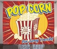 Rideaux Vintage Style Grunge annees 1950  Pop Corn  impression commerciale  a lancienne  cinema  Film  collation  travail  salon
