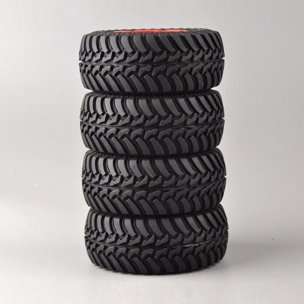 Купить с кэшбэком 4pcs/ Set Tires&Bead-Lock Wheel 30004 For 1:10 RC Short Car Course Truck Motorbike TRAXXAS Slash