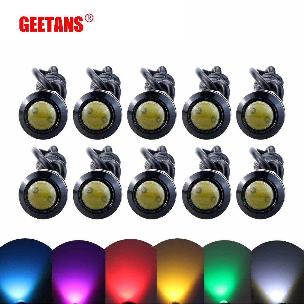 GEETANS DRL 10 шт. светодиодный светильник Eagle Eye автомобильный противотуманный светильник дневные ходовые огни светильник s 18 мм 23 мм обратный сигнал заднего хода парковочная лампа