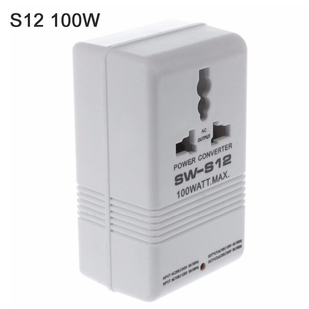 100W 70W 150W 110V a 220V 220V a 110V convertidor de voltaje reductor transformador de viaje convertidor de canal de potencia Dual