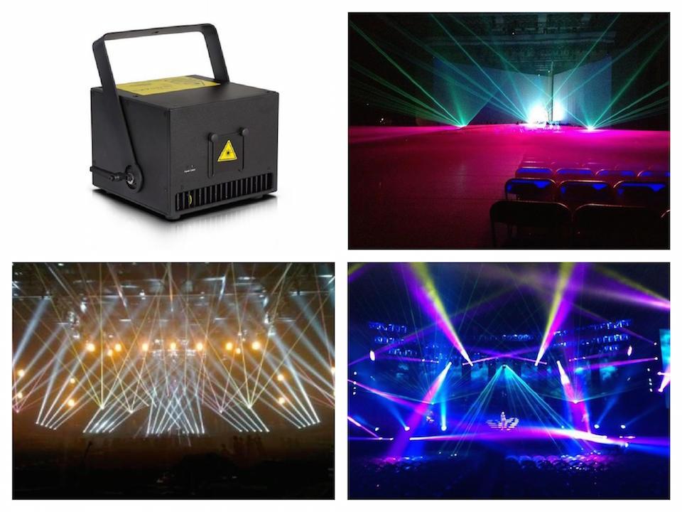 Láser 2W RGB Sistema de espectáculo de láser de animación 2000mw modulación analógica 20Kpps escáner ILDA luz láser para escenario acontecimiento boda fiesta