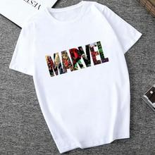 Showtly MARVEL Studios Weiß T shirt Kapitän Amerika Eisen Spinne Kurzarm Vogue Die Avengers Sommer T Tops