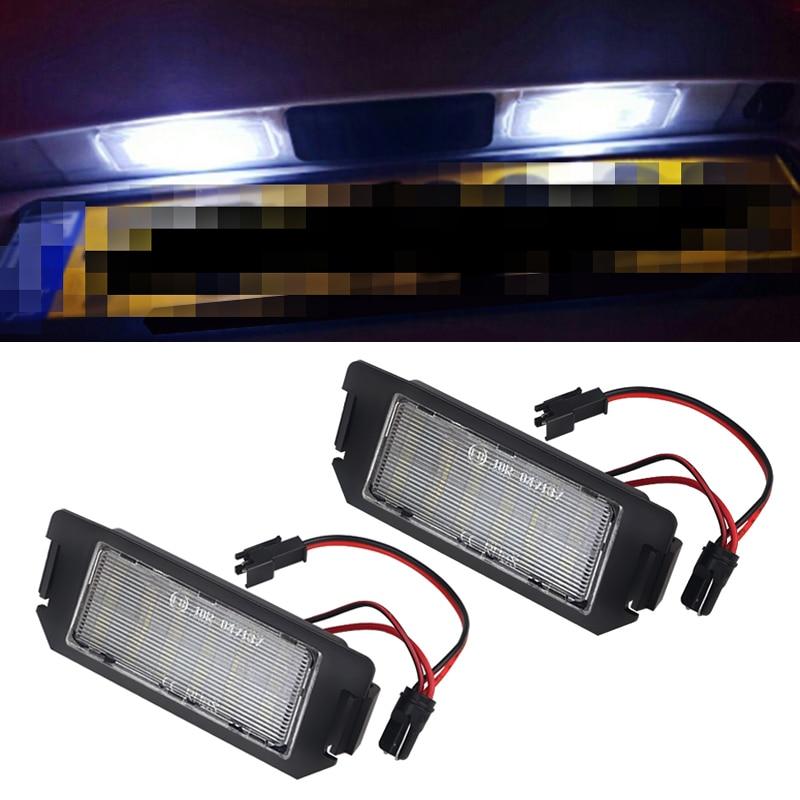 2Pcs LED License plate light For Hyundai I20 Veloster FS XG 30 Terracan HP Coupe GK 12V White No error For Kia Picanto Rio Soul
