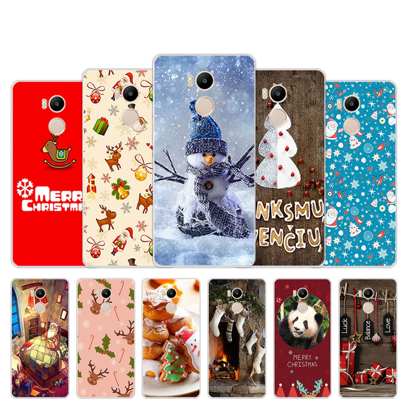 Funda de silicona de 5,0 pulgadas para Xiaomi Redmi 4 Pro 4 Prime para Xiaomi teléfono Redmi 4 Pro diseño de temporada de Navidad para Xiapmi Redmi 4S