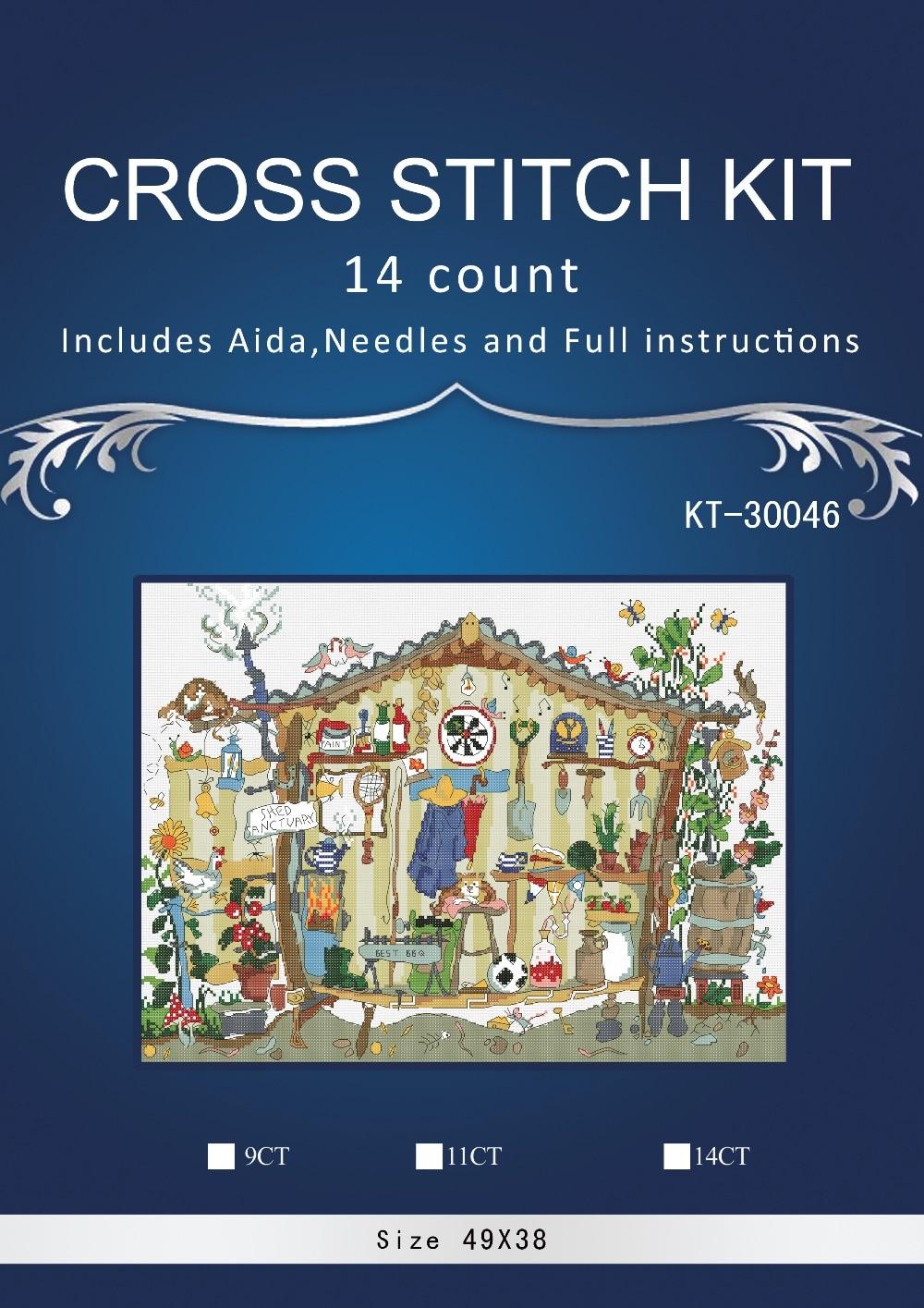 Kit de punto de cruz conteo encantador de alta calidad de oneroom bothy threads casa jardinería s