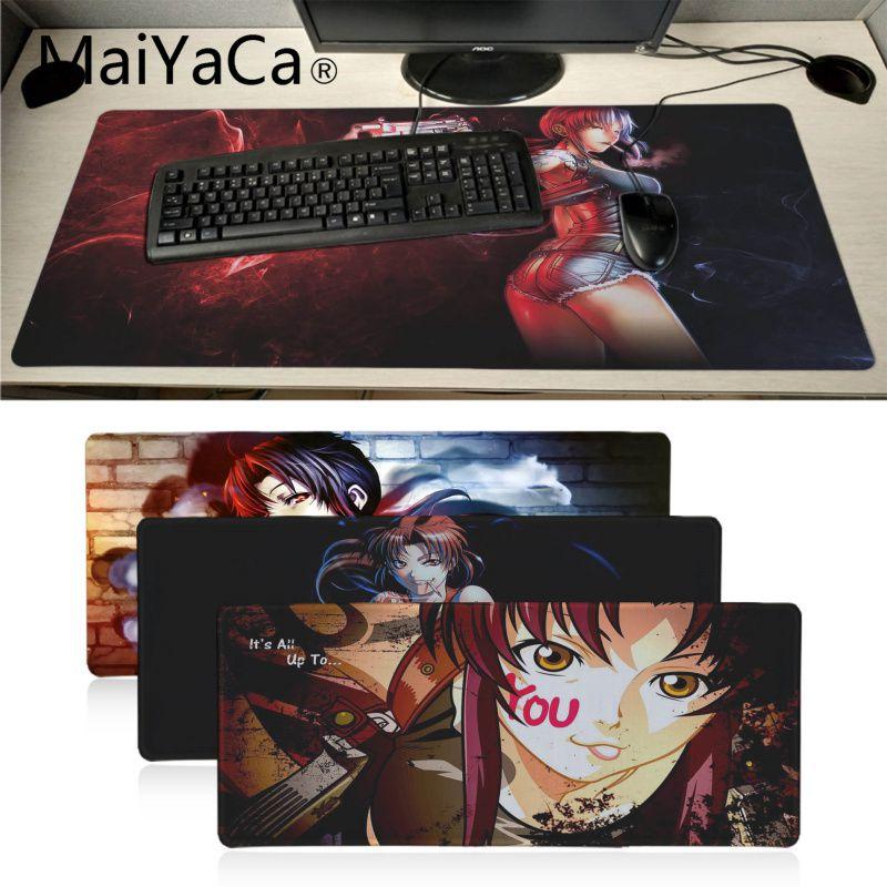 MaiYaCa, подарок бойфренду, Черная Лагуна, коврик для мыши, геймер, игровые коврики, аниме, мультяшный принт, большой игровой коврик для мыши, xl