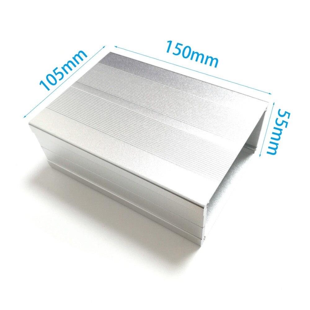 "Projeto de alumínio caixa gabinete elétrico diy 55mm (2.16 "") (h) x105mm (4.14"") (w) x150mm (5.91 "") (l) novo"