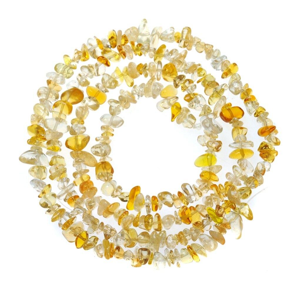 2x6x10mm forma Irregular Freeform Chip grava Piedra Natural Hebra cuenta Athens citrines piedra para DIY fabricación de joyas pulsera