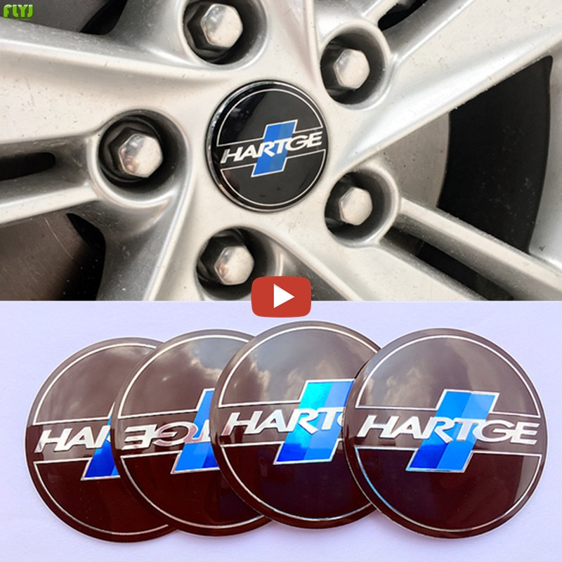 FLYJ 4 pcs tampa Do Cubo da Roda adesivo Emblema rotulagem Etiqueta Do Carro styling Para BMW HARTGE E46 E39 E90 E36 E34 f10 F15 E53 X5 X6 X1 X3