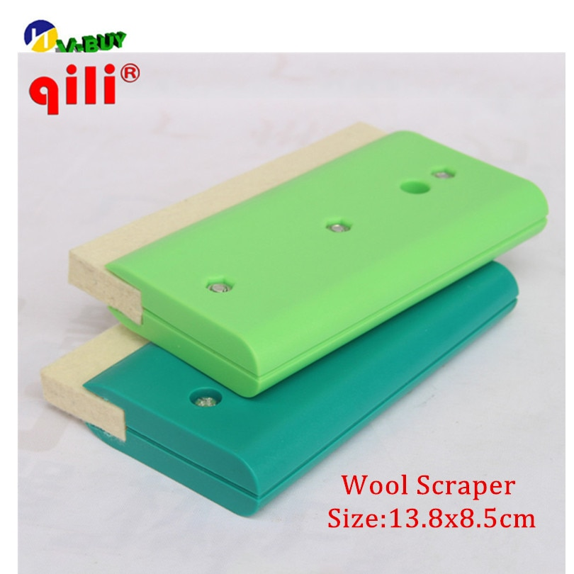Rascador de lana de exprimidor de rascador blanco Qili herramienta de exprimidor de lana de un solo lado