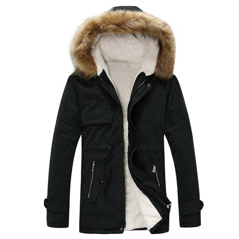 Зимняя мужская куртка на меху с капюшоном, утепленная хлопковая теплая верхняя одежда, парка, хит продаж, C08