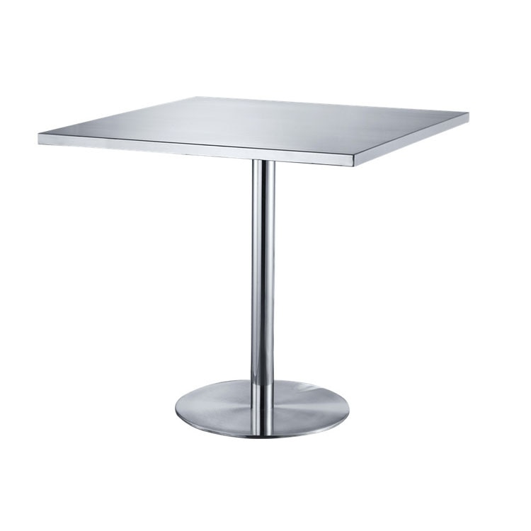 Simple creative stainless steel square outdoor dining table small dining cafe restaurant dining table outdoor dining table outdoor table aluminium