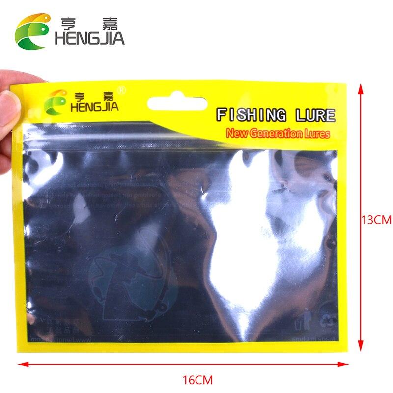 HENGJIA 100pcs soft fishing lures bag 10cm*15cm Self Seal Zipper Plastic Packing Poly Ziplock