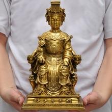 Talisman-sécurité en laiton   31CM, pour le bureau, Protection efficace pour la maison ou le salon de santé en laiton, statue de Mazu Guanyin